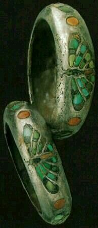 Two bracelets of Queen Hetepheres I Fourth Dynasty | Silver, turquoise, lapis lazuli, and carnelian