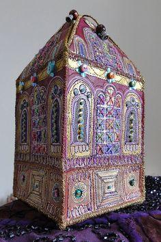 Mixed media house box by Janice MacDougall