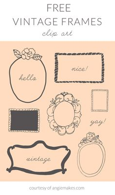 Free Vintage Frame Clip Art - Angie Makes | angiemakes.com