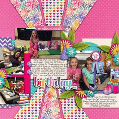 Get the Party Started by Bella Gypsy http://scraporchard.com/market/Get-The-Party-Started-Digital-Scrapbook-Kit.html Songbird by Little Green Frog Designs