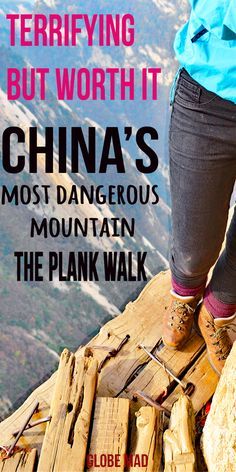 Things to Do in China, Asia. Backpacking and travelling China with Globemad Blog. Huashan mountain dangerous plank walk