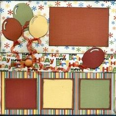 Birthday Scrapbook Page Kits Available at Captured Moments Right Now!