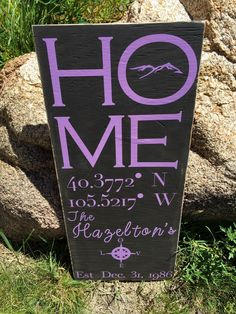 A personal favorite from my Etsy shop https://www.etsy.com/listing/465227795/personalized-homewedding-sign-with
