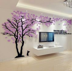 Online Shop Big Tree Wall Murals for Living Room Bedroom Sofa Backdrop TV Background Wall Stickers Home Art Decorations Tv Wall Decor, Diy Wall, Wall Stickers Tv, Wall Decals, Tree Decals, Wall Stickers Home Decor, Living Room Bedroom, Bedroom Decor, Bedroom Sofa