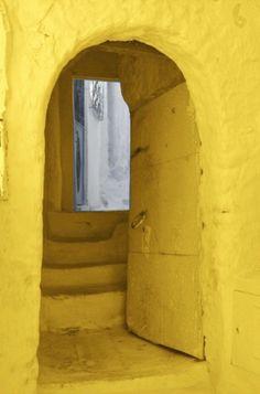 yellow entryway