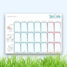 Zwakke executieve functies, zoals plannen? Deze handige weekplanner voor je kind is gratis!