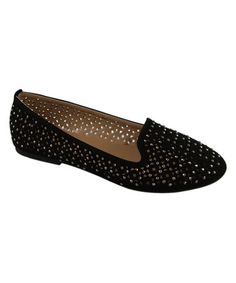 This Black Studded Diana Flat is perfect! #zulilyfinds