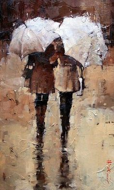 embrace those rainy days - I'm not sure why but I absolutely love the feeling of this painting