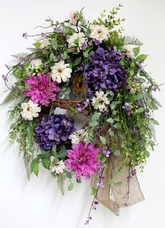 Front Door Wreath Spring Wreath Summer Wreath by FloralsFromHome, $158.00