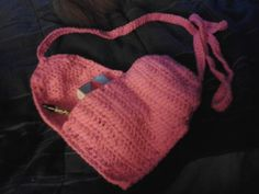Heart on your sleeve purse.: Accessories - PUR001 - Handmade Crocheted Gifts from the Heart! HJ Love Crafts!