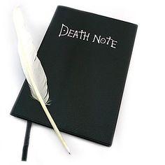 note book morte + pena conjunto de canetas cosplay – BRL R$ 30,44