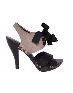 Stella McCartney Contrast Heels, side High Heel Pumps, Pumps Heels, Shoes For Less, Strappy Shoes, Black Heels, Designer Shoes, Stella Mccartney, Kitten Heels, Contrast