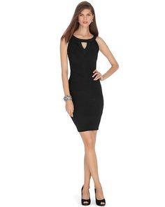 White House | Black Market Sleeveless Tiered Black Instantly Slimming Dress #whbm