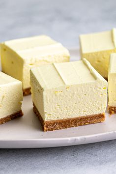 Lemon Dessert Recipes, Easy Baking Recipes, Lemon Recipes, Sweet Desserts, Cookie Recipes, No Bake Slices, Cake Slices, No Bake Lemon Cheesecake, Easy Cheesecake Recipes