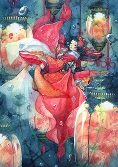 Artwork by Shuka (朱華):  i.夢遊・むゆうii. 不思議の国のアリスiii. アリスの世界iv....