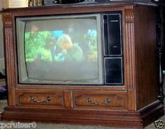 The 1982 RCA Colortrak 2000 - I can't believe I watched a wooden TV in the 80's.  I think my Dad paid $1000 for it in 1982 which would amount to $2250 in today's dollars.