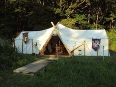 How to make a Viking style large tent using two wall tents. In the ...