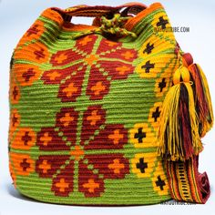 Cabo Wayuu Mochila bags are intricate in their designs, can take approximately 15 -20 days to weave. Hand Woven Strap. Handmade in South America by the indigenous Wayuu people. Cotton. Shoulder bag. a