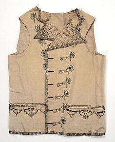 Waistcoat ca. 1789, French (probably), silk, cotton