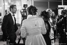 Being interviewed for the Collars and Coats event benefiting Battersea Dogs & Cats Home  Model: David Gandy