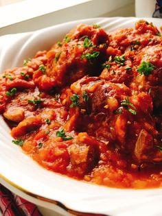 チキンカチャトーラ(鶏肉のトマト煮)