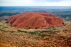 Uluru (Ayer's Rock) from above.....Australia