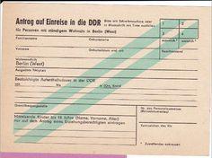 DDR einreise antrag