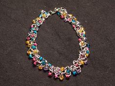 """Beaded Jump Ring Bracelet - """"Sunset"""" by twistedthreads on Etsy https://www.etsy.com/listing/220326269/beaded-jump-ring-bracelet-sunset"""