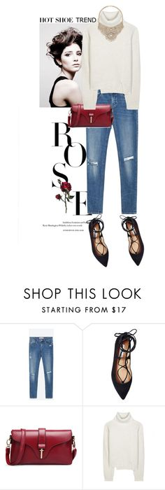 """Hot Shoe Trend // Ankle Wrap Flats"" by perilousness-fashion ❤ liked on Polyvore featuring Angelo, Zara, Steve Madden, Proenza Schouler and Bebe"