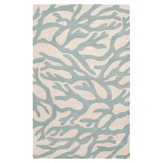 Stylishly anchor your living room or master suite with this hand-tufted New Zealand wool rug, showcasing a coral-inspired motif in powder blue. ...
