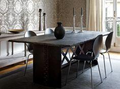 Slate Table Top My Mom Had A Farm House As