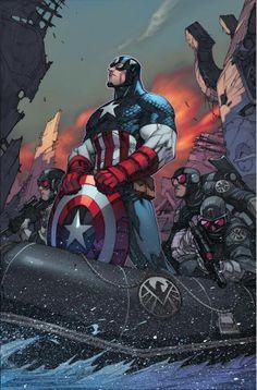 Captain America by Joe Madureira, colours by Marte Garcia *
