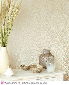 Yasmin Cream by Eijffinger - Cream : Wallpaper Direct Decor, Wallpaper Bedroom, Interior, Hall Wallpaper, Living Room Decor, Wallpaper Living Room, Wallpaper Decor, Bedroom Decor, Hallway Wallpaper