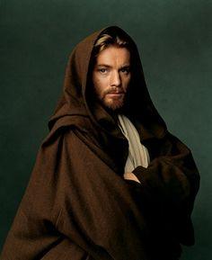 Ewan McGregor as Obi-Wan Kenobi in Attack of the Clones, Vanity Fair March 2002. Photo by Annie Leibovitz.