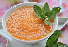 Soupe de melon à la mentheVoir la recette de la Soupe de melon à la menthe >>