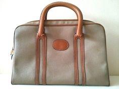 Vintage Meyers USA Leather Handbag Brown and Tan Colored