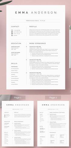 25 Clean Minimal Resume Templates Design | Design | Graphic Design Junction
