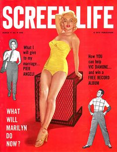Marilyn Monroe Screen Life Cover - www.MadMenArt.com | Actress, model, singer…