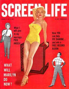 Marilyn Monroe Screen Life Cover - www.MadMenArt.com | Actress, model, singer…