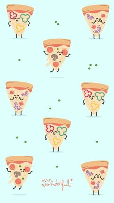 The Wonderful pizza Cute Wallpaper Backgrounds, Wallpaper Iphone Cute, Screen Wallpaper, Cool Wallpaper, Cute Wallpapers, Kawaii Wallpaper, Pastel Wallpaper, Cartoon Wallpaper, Mr Wonderful