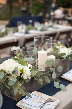 Beautiful eucalyptus wedding decoration floral arrangement 5
