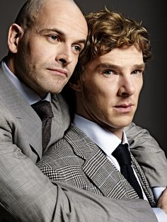 Benedict Cumberbatch and Jonny Lee Miller. Man, do I wish I could have seen the Frankenstein play they did together. Great concept. Would love to have seen them work