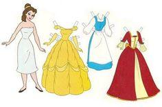 Princesas Disney De Papel Para Recortar Con Vestidos Recortables