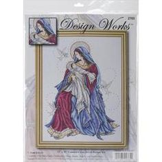 Create a beautiful cross stitch design with this kit. This package contains Aida cloth, embroidery floss, beads, a needle, and instructions. Made in USA.