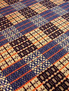 "German-American | double-faced, 4 design blocks | wool + undyed cotton | 74"" x 86"" | Pennsylvania, U.S.A. | c. 1820s"
