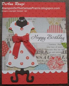Stampin' on the Prairie: Dress Up Canvas Creations
