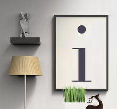 Letter I   ► Letters & Symbolen   Postersinhuis.nl