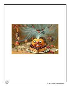 Printable Vintage Halloween Cards Beautiful Vintage Jack-o-Lantern Postcard – Craft Jr.