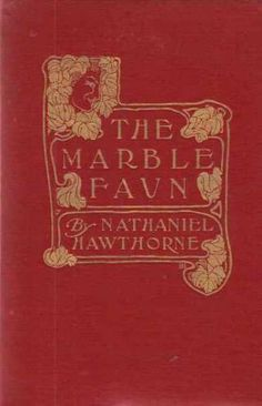 """""""The Marble Faun"""" by Nathaniel Hawthorne Recycled hardcover book JOURNAL! One of a kind, unrepeatable, and all yours/ your gift recipient's. All of our journals include some excerpts from the original book, whatever library ephemera is native to the book, and around 80-90 sheets of acid free, blank paper. Just $14. Click on this image to visit our site. Or click on this link: www.bookjournals.com Love, Jacob Ex Libris Anonymous, Portland, Oregon."""