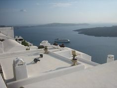 Santorini, Sea, White Houses
